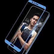 Full Glue (Gum) (5D Quality and Perfect Fitting) Blue Color Tempered Glass for Huawei Honor 7X