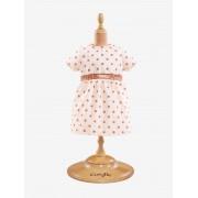 COROLLE Vestido às bolas para boneca de 36 cm, Corolle rosa claro liso com motivo
