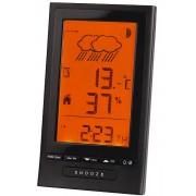 Luxusní černá digitální meteorologická stanice JVD RB502