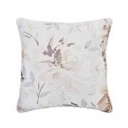 Croscill Liana Almohada Cuadrada con patrón Floral romántico de Acuarela, 18 x 18 100% algodón, Multicolor