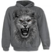 kapucnis pulóver gyermek - Tribal Lion - SPIRAL - E020K302