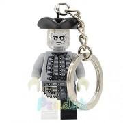 Generic Pirates of The Caribbean Jack Sparrow Figure Keychain Davy Jones Salazar Barbossa Key Chain Ring DIY Building Blocks Bricks Toys Officer Madga