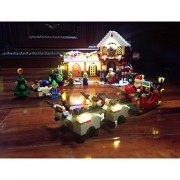 LED Light Kit Up For Santa's Workshop Building Blocks Toy - Compatible With Lego Creator 10245 (NOT Included The Model Set)