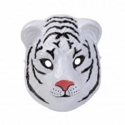 Geen Witte tijger masker 3D plastic 22cm