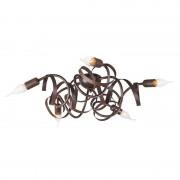 QAZQA Rustic brown ceiling lamp - Ricciolo 5