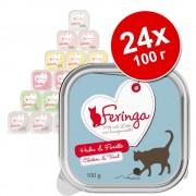 Икономична опаковка Feringa Classic Meat Menu в купичка 24 x 100 г - смесен пакет II (6 вида)