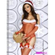 Completino intimo natalizio a rete SexyCandy