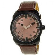 Fastrack Analog Brown Round Watch -9463AL05