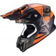 Scorpion VX-16 Air Mach Motocross hjälm 2XL Svart Orange