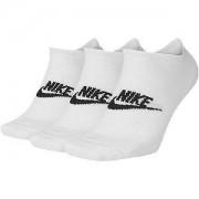 Nike Witte Essential No Show 3 pak mt 42-46
