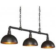 Hanglamp Industrial Tube 3L met Kap