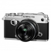Olympus PEN-F Aparat Foto Mirrorless 20MP MFT Full HD Kit cu Obiectiv 17mm F1.8 Argintiu / Negru