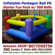 My Bouncer Balls Included - My Bouncer Perfect Little Pentagon Ball Pit Great for Indoor Use - Inflatable to 90