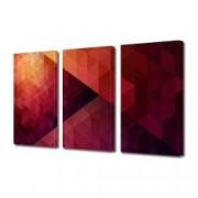 Tablou Canvas Premium Abstract Multicolor Nuante De Rosu Decoratiuni Moderne pentru Casa 3 x 70 x 100 cm