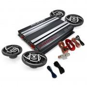 "Kit Car HiFi 4.0 ""Platin Line 400"" kit caixas amplificador"