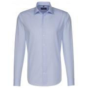 Seidensticker Overhemd Micro Check Kent Aqua Blue / male