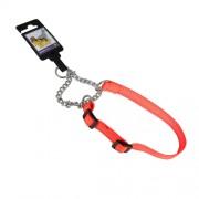 Hundhalsband stryp, justerbart av nylon, orange reflex, 20mm x 35-55cm