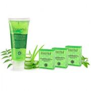Sattvik Organics Aloe Glow Kit Replenishes Rehydrates Skin Cells Cures Protects Problem Skin