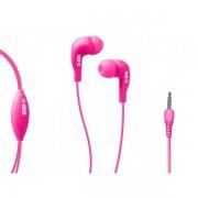 Casti stereo cu fir si microfon SBS teinearpl, Pink