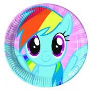 Set farfurii mari Pony Rainbow