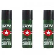 3 spray NATO paralizant de buzunar cu piper pentru autoaparare