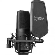 Microfon Boya BY-M800 Studio Condensator cu shock mount