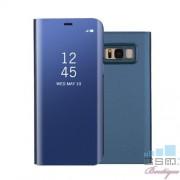 Husa Flip Cu Stand Samsung Galaxy S8 Plus G955 Tip Oglinda Albastra