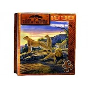 "Master Pieces Wildlife Masters, Exotic Series, 1000 Pieces, Collectible Tin, 26.75"" x 19.25"", (""LION"