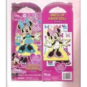 Disney MINNIE MOUSE BOW-TIQUE Dress Up Paper Doll Activity Play Set