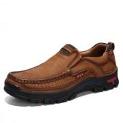 Comfortabele en ademende anti-slip set voeten outdoor wandelen sneakers formele schoenen voor mannen schoenmaat: 43 (bruin)