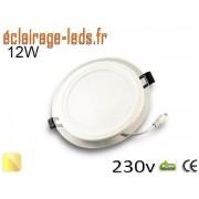 Spot LED Slim 12w blanc chaud perçage 120mm 230v