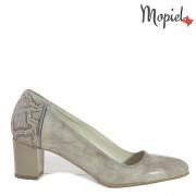 Pantofi dama din piele naturala 24703/Gri-Croco/Rona