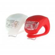 Luces Led Para Bicicleta Silicona X2 Roja Y Blanca