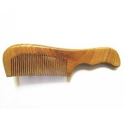 Myhsmooth Gs-2w-nt Handmade Natural Green Sandalwood No Static Comb with Aromatic Scent for Detangling Curly Hair and Gi