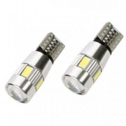 Bec pozitie T10 canbus 6SMD + lupa in varf 5630 24V (set)