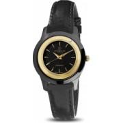 Ceas de dama Swiss Made Negru Cadran Negru 1 diamant curea piele neagra Christina Watches Collect