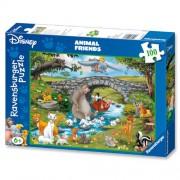 Puzzle Lumea animalelor, 100 piese, RAVENSBURGER Puzzle Copii
