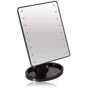 Ideaworks -Light-Up Mirror-Large Mirror with 16 LED Lights for Make-Up, Tweezing, Other Facial Applications-Rotating Mirror-Magnifier Option-Built-in Tray-Battery Powered
