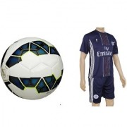Combo of Premier League Blue Football (Size-5) with Suit (Jersey + Shorts)
