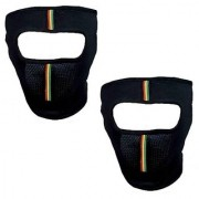 De Autocare Pack of 2 Anti Pollution Dust Sun Protection Riding Bike face mask Covers Forehead And Mouth for Men Women