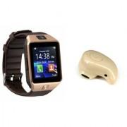 Zemini DZ09 Smart Watch and Kaju Bluetooth Headphone for SAMSUNG GALAXY S 5 SPORT(DZ09 Smart Watch With 4G Sim Card Memory Card| Kaju Bluetooth Headphone)