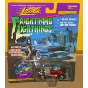 Frightning lightnings JOHNNY LIGHTNING limited edition MYSTERION red series 3 (Elvira artwork on car