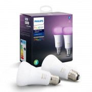 Philips Hue White and Color Ambiance Pack 2 Lâmpadas LED E27 9W RGB