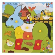 Skillofun Wooden Theme Puzzle Standard Donkey Knobs, Multi Color