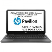 HP Pavilion Gaming 15-BC021TX (Core i7 (6th Gen 6700HQ)/4 GB DDR4/1 TB/15.6 FULL HD IPS/DOS/4 GB NViDiA GTX960M)
