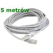 Sieťový kábel + zástrčky lan ethernet rj45 5 metrov