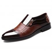 Rosegal Hommes de grande taille a souligné les chaussures de cuir décontracté occasionnel d'affaires formel EU 44