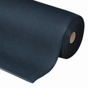 Černá metrážová protiúnavová průmyslová rohož - šířka 60 cm a výška 0,94 cm