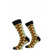 Happy Socks - Brick Sock - Geel - Size: 41-46