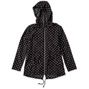 Jason Maxwell Womens Outerwear Jason Maxwell Parka con capucha para mujer, Puntos negros y blancos., L